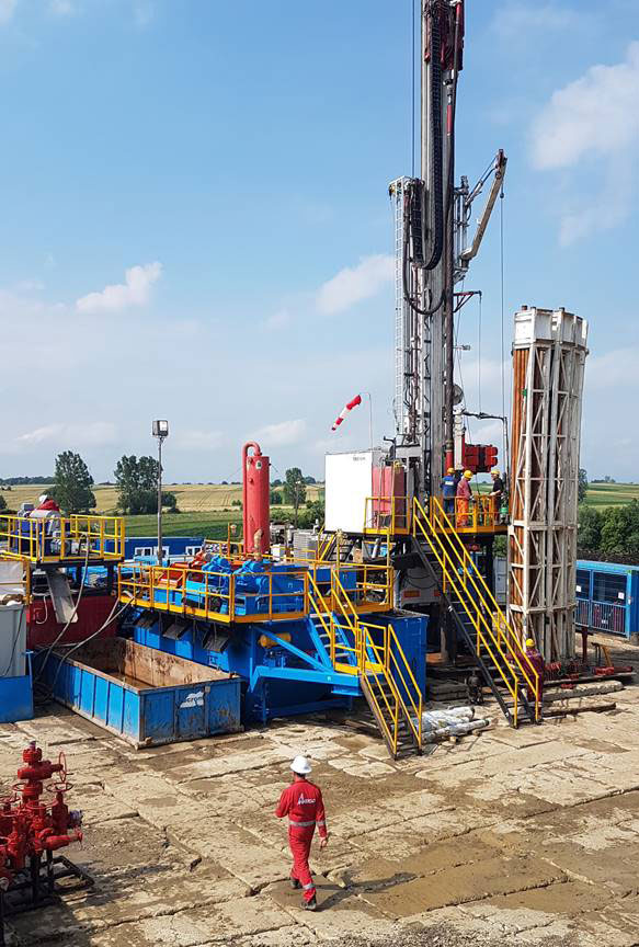 Drilling the Bainet-2 well in Suceava Concession, North East Romania